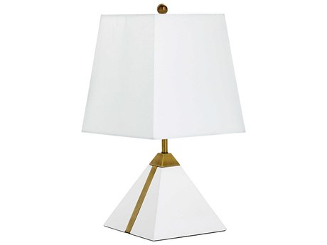 Cyan Design Giza White and Brass Table Lamp (with CFL) C3079611
