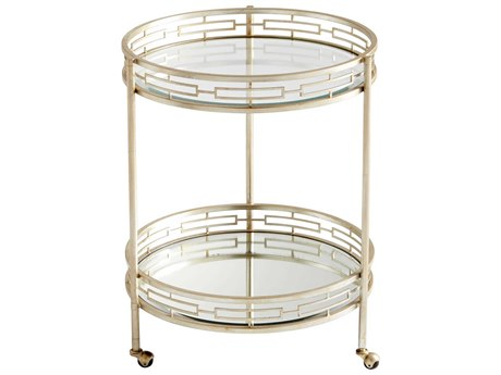 Cyan Design Gilded Meridian Antique Silver Bar Cart