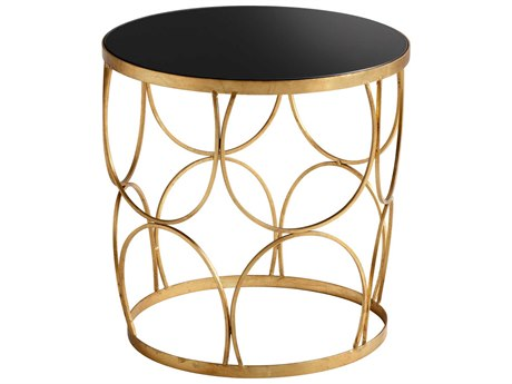 Cyan Design Gold Leaf Round Drum Table