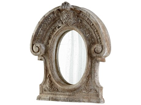 Cyan Design Inglewood 39 x 46 Ancient White Wall Mirror C305957