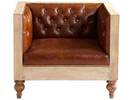 Cyan Design Magnus Burnt White Club Chair C307007