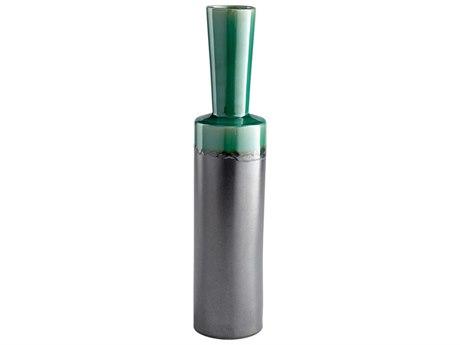 Cyan Design Merl Turquoise & Black Metal Large Vase