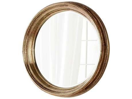 Cyan Design Mint Gold 29'' Wide Round Wall Mirror C306980