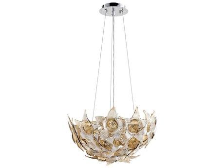 Cyan Design Moon Lillie Chrome with Cognac Glass 18.5'' Wide Pendant Light C307664