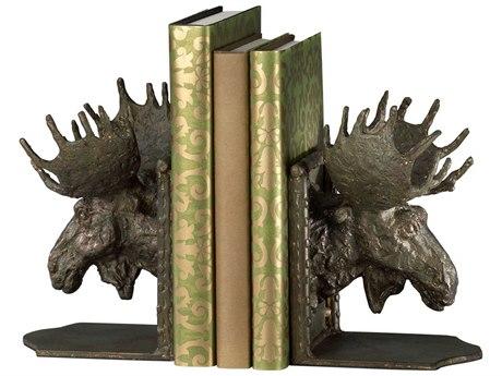Cyan Design Bronze Set of 2 Moosehead Bookends C303072
