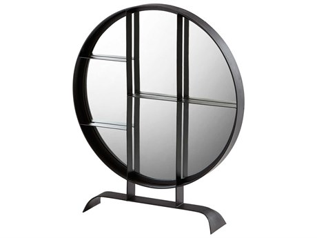 Cyan Design Nexus Matte Black 32'' Wide Round Dresser Mirror C306989