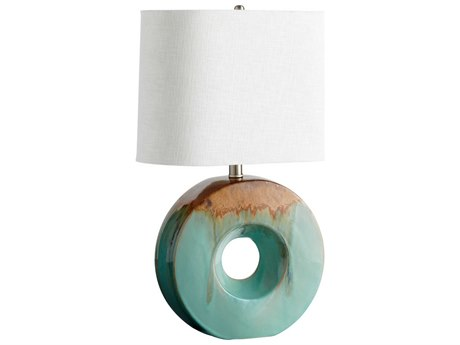 Cyan Design Blue Glaze & Brown Oh Table Lamp C305213