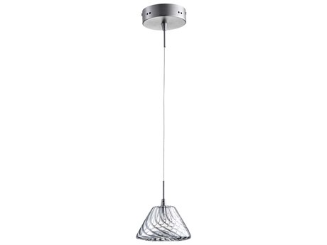 Cyan Design Orson Satin Nickel with Clear Glass 6'' Wide Mini-Pendant Light C307608
