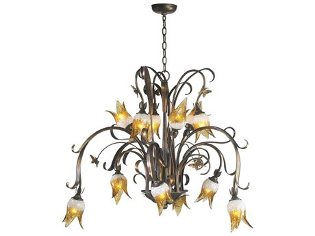 Cyan Design Papillion Venetian Iron 12-Light 41 Wide Grand Chandelier C364061293