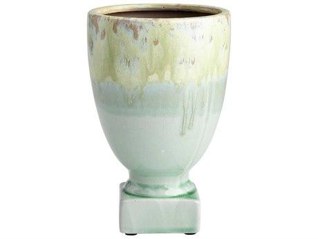 Cyan Design Medium Bella Delta Green Glaze Planter