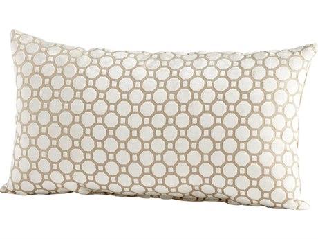 Cyan Design Taupe Raindrops Keep Fallng Pillow C306509