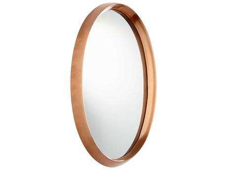 Cyan Design Rimrock Satin Copper 12''W x 22''H Oval Wall Mirror C308127