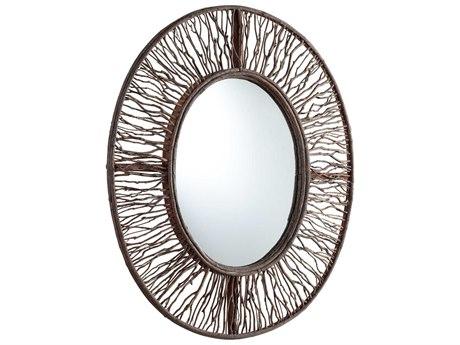 Cyan Design Rossi 29 x 34 Walnut Wall Mirror C305584