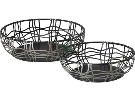 Cyan Design Silver & Bronze Suzanne Set of 2 Baskets C302446
