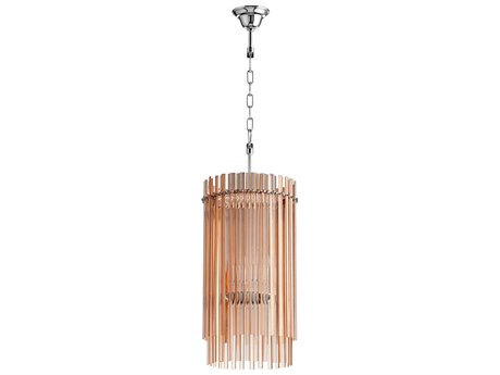 Cyan Design Swizzle Blush Glass Mini Chandelier C305719