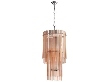 Cyan Design Swizzle Blush Glass Mini Chandelier C305720