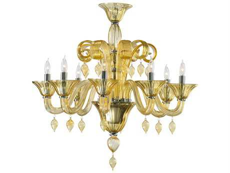 Cyan Design Treviso Chrome & Amber Eight-Light 29'' Wide Chandelier C36493814