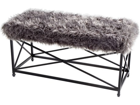 Cyan Design Ushanka Graphite and Grey Accent Bench C309039