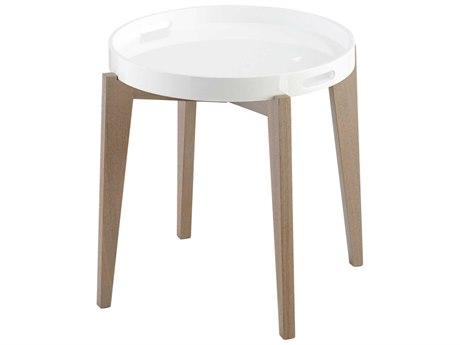 Cyan Design Van Dyke White Lacquer Round End Table C306352