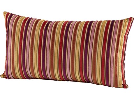 Cyan Design Purple Vibrant Strip Pillow C306529