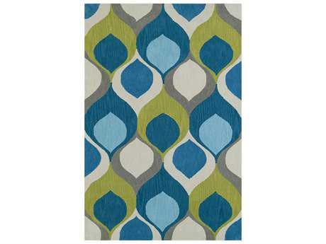 Dalyn Aloft Rectangular Teal Area Rug DLAL14TEAL