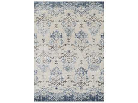 Dalyn Antigua Blue Rectangular Area Rug DLAN11BLUE