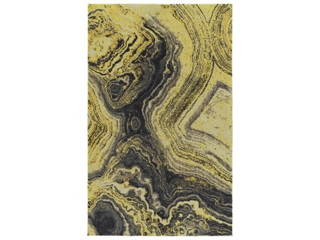 Dalyn Formations Citrine / Ivory Taupe Gold Gray Charcoal Silver Rectangular Area Rug
