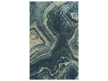 Dalyn Formations Beryl / Turquoise Blue Ivory Gray Sky Rectangular Area Rug