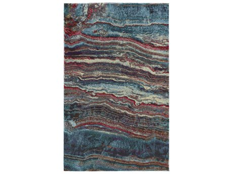 Dalyn Formations Agate / Sky Blue Ivory Rose Pink Silver Gold Copper Bronze Charcoal Rectangular Area Rug
