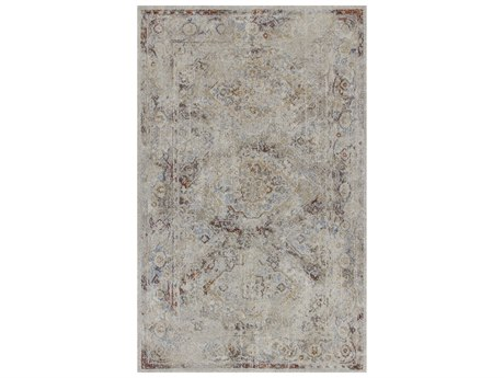 Dalyn Fresca Taupe / Ivory Chocolate Mocha Paprika Spice Gold Sky Blue Rectangular Area Rug