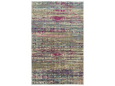Dalyn Galli Celebration / Ivory Gold Rose Sky Blue Purple Taupe Grey Turquoise Pink Navy Rectangular Area Rug