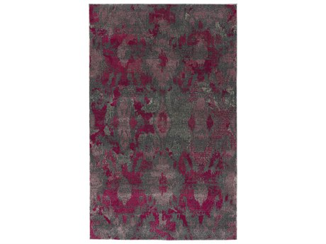 Dalyn Galli Punch / Rose Pink Grey Silver Rectangular Area Rug