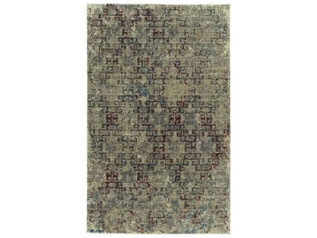 Dalyn Galli Oyster / Taupe Gold Ivory Silver Charcoal Copper Turquoise Rectangular Area Rug