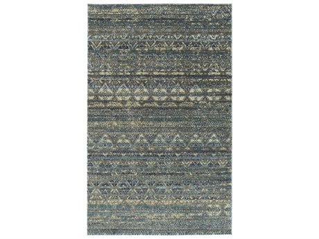 Dalyn Galli Azure / Sky Blue Turquoise Ivory Taupe Silver Rectangular Area Rug
