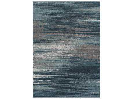 Dalyn Modern Greys Rectangular Teal Area Rug DLMG5993TEAL