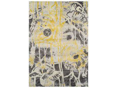 Dalyn Modern Greys Rectangular Lemon Area Rug