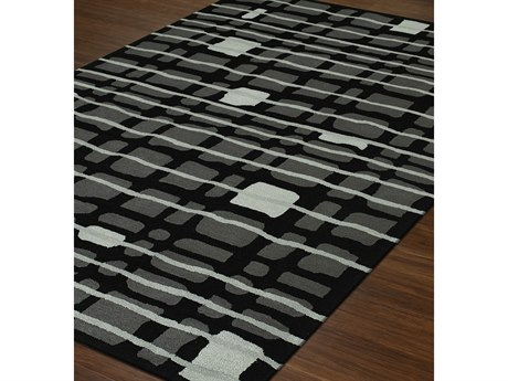 Dalyn Santino Black Rectangular Area Rug