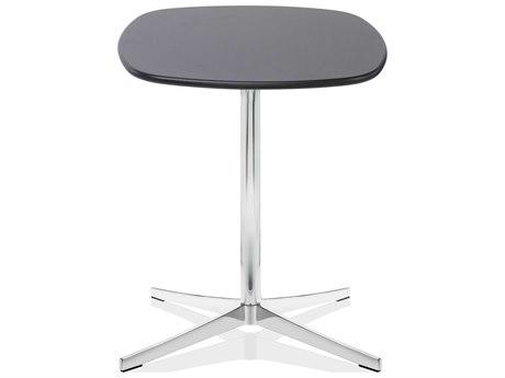 Dauphin Axium 24'' Wide Square Soft Corner Pedestal Table DAUAX2424SHDH