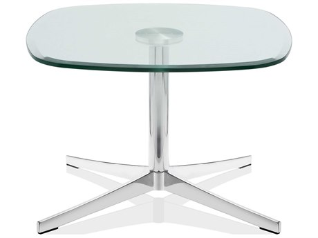 Dauphin Axium 24'' Wide Square Soft Corner Occasional Height / Lounge Pedestal Table DAUAX2424SHOHLH
