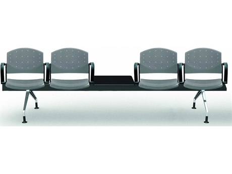 Dauphin Eddy Four-Seat Beam Seating with Center Table DAUED4500B5S4C