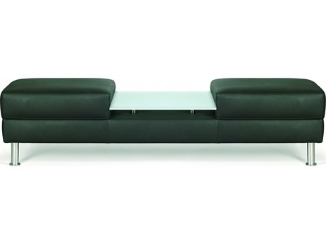 Dauphin Egbert Bench with Glass Table DAUEG837061GLS
