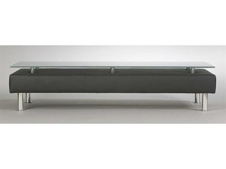 Dauphin Egbert 42''L x 21''W Rectangular Coffee Table with Glass Top DAUEG8261GLS