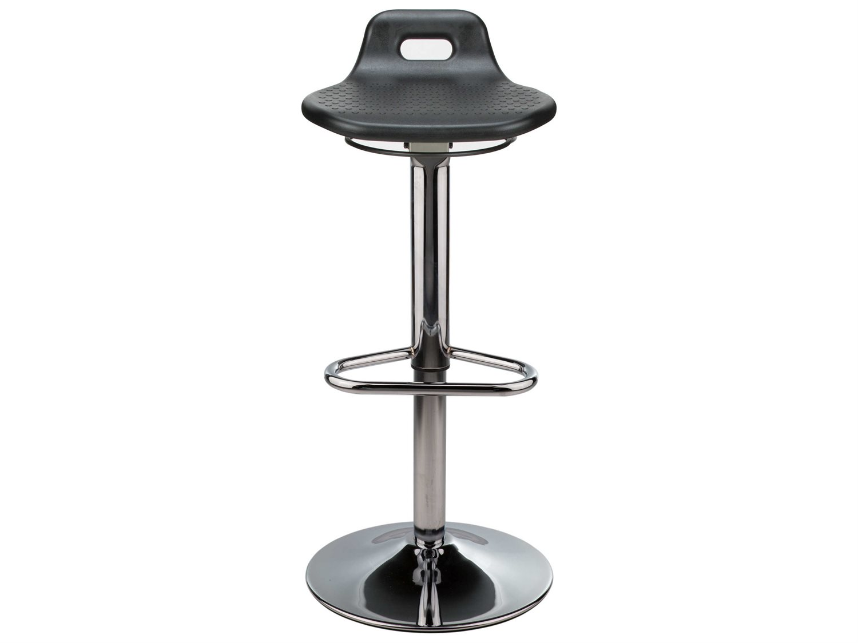 Terrific Dauphin Octave Round Black Saddle Seat Bar Stool Beatyapartments Chair Design Images Beatyapartmentscom
