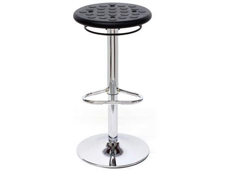 Dauphin Octave Round Black Bar Stool