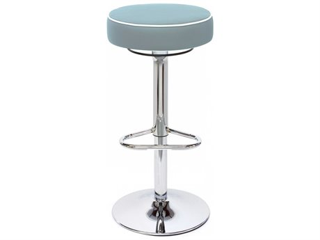 Dauphin Octave Round Bar Stool with Pipping DAUOC9288CHR