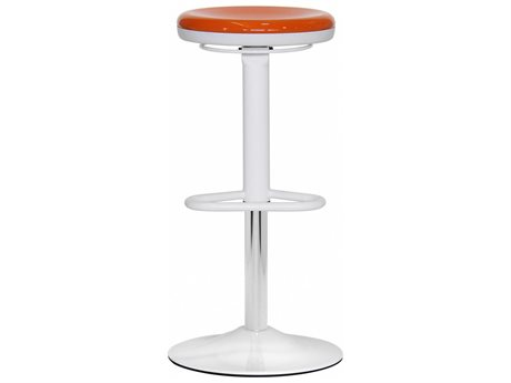 Dauphin Octave Round Orange Bar Stool DAUOC9288CHRMOR