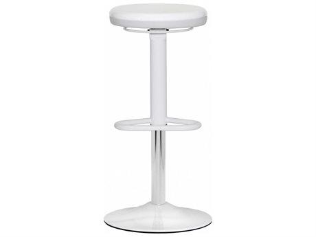 Dauphin Octave Round White Bar Stool
