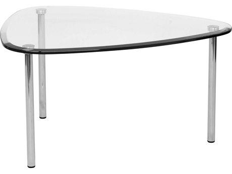 Dauphin Tiffany 30''L x 24'' W Triangle Soft Corner End Table DAUTF3024T