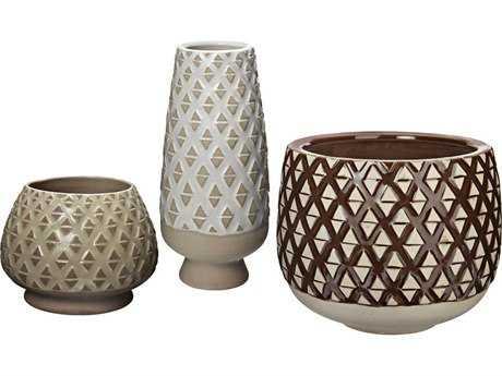 Dimond Home Two Tone Lattice Pots LS857163S3