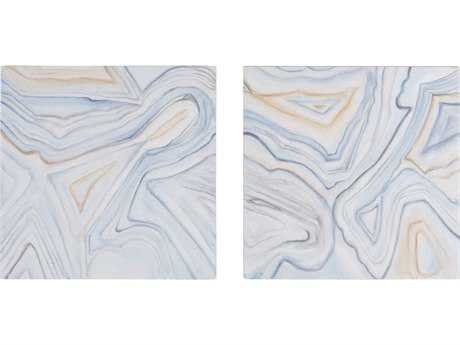 Dimond Home Pastels Agate Handpainted Wall Art (Two Piece Set) LS7011199S2